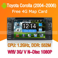 Android Toyota Corolla Car DVD Player GPS Navi 3G Wifi Bluetooth Touch Screen USB SD support Virtual N Disc 1080P HD