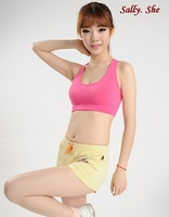 free shipping Double layer wireless modal cotton bra running yoga sports vest bra women's basic underwear