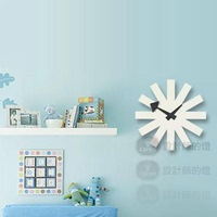 Personalized georgenelson modern art clock building blocks wall clock