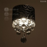 Vintage fashion crystal rustic pendant light