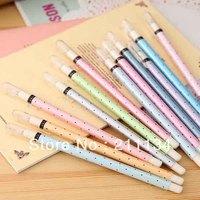 36 Pcs / Lot Cut Korea Cool Cute little Polka Dot Gel Pen / Gen Ink Pen / Black Pen