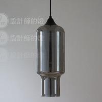 Yc modern brief vintage glass lamp smoked pendant light
