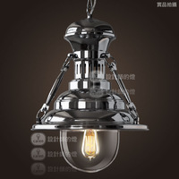 Loft fashion vintage bar heavy metal cannonading after big pendant light