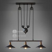 Loft vintage fashion lift mirror lamp pendant light