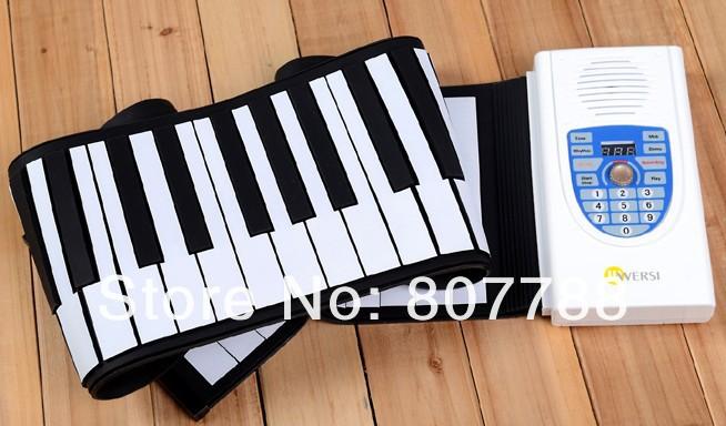 USB Electronic Music Silicone Roll Up Standard Piano 61 Keys Soft Keyboard Organ Midi Out drop shipping(China (Mainland))