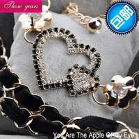 Fashion new arrival metal all-match belt female belly chain belt rhinestone