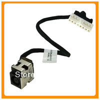 Free Shipping Genuine New Laptop Power DC Jack For HP Pavilion G62 Compaq CQ62 CQ56 8-pin with Cable Power Head Power Connector