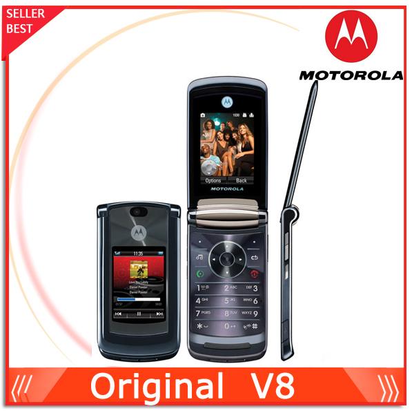 Billige original phone motorola v8 2,2-zoll-bildschirm kamera 2.0mp entsperrt handy kostenlos versand