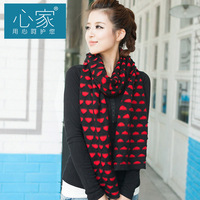2013 yarn scarf double faced cutting autumn and winter double layer thermal women's