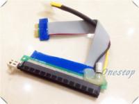 20PCS 20CM PCI-E 1X to 16X Slot Riser with Capicity Molex Extender Card PCIE Extension Ribbon Flex Relocate Cable Bitcoin Mining