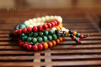 Fashion National Natural bodhi root bracelets multicoloured vajra bracelets 108 beads meditation long string bracelets