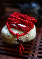 Fashion ethnologic Original manual bead bracelet with red wingceltis, 216 beads series of prayers for peace bracelet