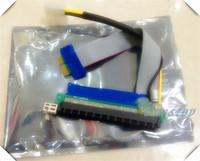 2PC 20CM Bitcoin Miner PCI-E 1X to 16X Slot Riser with Capicity Molex Extender Card PCIe Extension Ribbon Flex Relocate Cable