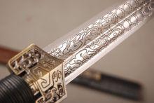 """Detalhes sobre espada chinesa 80 centímetros """"Han jian"""" aço de carbono elevado Rosa saya madeira facas afiadas(China (Mainland))"""