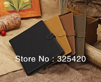 Luxury retro vintage leather case cover for ipad 2 3 4 smart case cover stand flip protective case for apple ipad, 4 colors