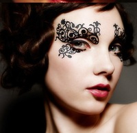 $2 eye shadow stickers fashion new royal luxury designs patch hollow paper cut face lace for women makeup