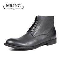 Mr.ing winter new arrival fashion genuine leather high boots fashion trend of the tooling boots male high boots h276
