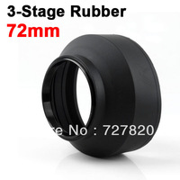 72mm 3 Stage Collapsible 3-in-1 Rubber Lens Hood for 72 mm filter thread Canon Nikon Sony Sigma Pentax Camera
