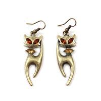 Min order $10 free shipping fashion accessories sumni vintage kitten drop earring eu