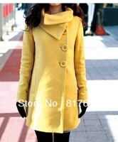 Free Shipping Women's Jacket Wool Outware Winter Noble Cashmere Long Coats Wholesales Best Selling 10932