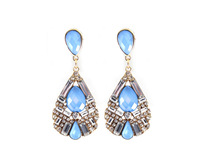 Min order $10 free shipping fashion accessories sumni quality sparkling crystal blue pink drop earring jq