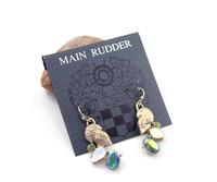 Min order $10 free shipping fashion accessories main rudder drop earring ip , glass