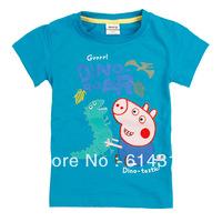 C4032# 18m/6y Nova Kids wear baby boys' short sleeve T-shirts peppa pig boy's top fit summer 100 cotton short sleeve Tshirts