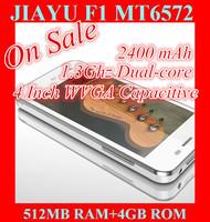 In Stock JIAYU F1 MTK6572 Dual Core 3G Smart Phone 5MP Camera 512MB RAM 4G ROM Metal Frame
