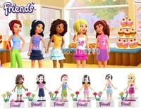 6pcs/lot friends Minifigure fit all brand Building Block doll,Loose Brick accessory WOMA Sluban Decool mini figures
