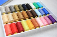 free shipping, sewing thread ,denim thread,20s/1*2,150yards/roll,moq is 30colors/set