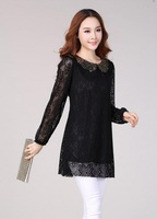 The new fashion big yards women cultivate one's morality sequins lace dress. Free shipping