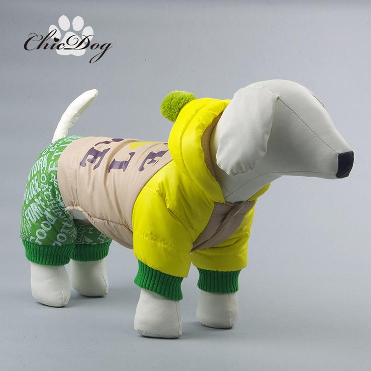 Cão roupa do cão de algodão acolchoado jaqueta de outono e inverno casaco amassado roupas para cães de pelúcia amassado jaqueta(China (Mainland))