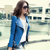 Girl country. 2014 the new coat. Women sexy fashion leather jacket. Cultivate one's morality PU coat. Leather bomber jackets