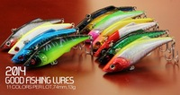 2014 good fishing lures,11colors,74mm,13g  sinking.each lot 11pcs different minnow