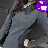 Fashion house 2013 women's honey autumn all-match basic t-shirt