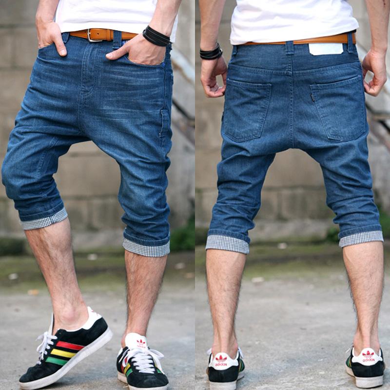 mens jean capri pants - Pi Pants