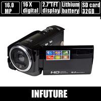 "16 MP digital video camcorder  HD video camera 2.7"" TFT display 16 x digital zoom  Free shipping DV-C6"