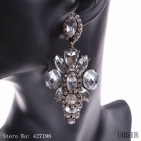 2014 new model design arrival sexy girls alloy dangle drop crystal fashion brand earrings for women jewelry free shipping