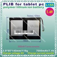 [L155] 7.4V,7000mAH,[3995140] PLIB ( polymer lithium ion battery ) Li-ion battery for tablet pc,cell phone,power bank,gps,MP4