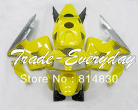 Complete fairing kit with tank cover  fit for CBR600 F5 2003 2004 CBR600 F5  03 04 CBR 600 Yellow Gray 10D91