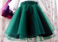 Sweet organza tutu high waist lace princess puff short skirt bust skirt basic tulle skirt candy color ball gown