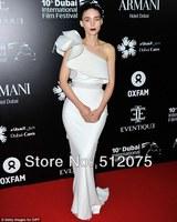 Red Carpet Celebrity Dresses New Arrives Slimming One-shoulder Ruched Celebrity Dress Fast Shipping
