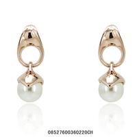 Women jewelry.Drop earrings.Free shipping.The eardrop of fashion women.Milk white pearl earrings.18 k rose gold plated earrings.