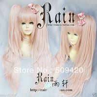 Free Shipping>>> Danganronpa Dangan-Ronpa Junko Enoshima Cosplay Wig with ponytails