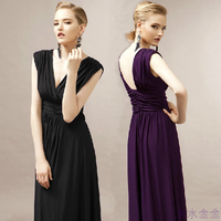 2014 evening dress slim long design fashion elegant intellectuality ruslana korshunova evening dress one-piece dress
