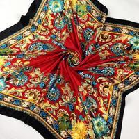 2013 fashion design classic silk scarf foulard hijab for women square charming shawl scarves,20 colors  SC0271