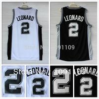 San Antonio 2 Kawhi Leonard Jersey, Cheap Basketball Jersey Kawhi Leonard New Rev 30 Embroidery Logo, Mens S-3XL Free Shipping