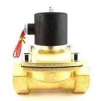 Factory Sale!2PCS In Lot 1.5'' Zinc Alloy Brass Water Solenoid Valve 2W400-40 DC24V 0.8MPa Pressure