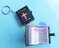 108pcs English Christian Gospel key chain Christmas gifts crafts mini bible keychain God day school supplies prizes key ring