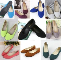 women's Purity flats Spring summer fake suede ladies ballet size 35-41casual mother shoes for women Free drop shipping